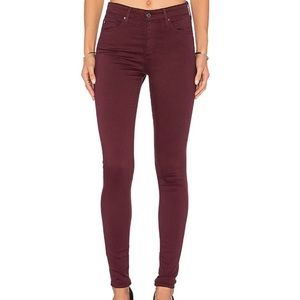 ANTHRO AG ADRIANO GOLD Abbey Maroon Skinny Jeans